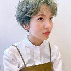 小顔ショート ふんわりショート ショート ショートヘア ヘアスタイルや髪型の写真・画像