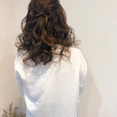 結婚式 ミディアム ヘアアレンジ リボン ヘアスタイルや髪型の写真・画像