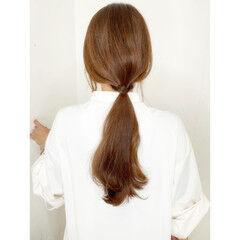 ナチュラル セルフアレンジ セルフヘアアレンジ ロング ヘアスタイルや髪型の写真・画像