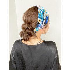ナチュラル 簡単ヘアアレンジ ロング ヘアアレンジ ヘアスタイルや髪型の写真・画像