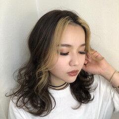 モード ホワイトハイライト ハイライト ハイトーン ヘアスタイルや髪型の写真・画像