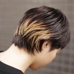 ハイライト ショートヘア ショート 黒髪
