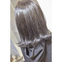 ダークトーン ブルージュ ロブ モード ヘアスタイルや髪型の写真・画像