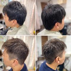 ショート 頭皮改善 メンズカット メンズショート ヘアスタイルや髪型の写真・画像