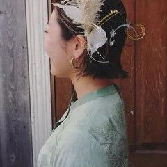 ミニボブ ボブ モード ヘアアレンジ ヘアスタイルや髪型の写真・画像