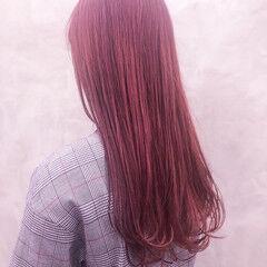 ヘアマニキュア ダブルカラー デート フェミニン ヘアスタイルや髪型の写真・画像