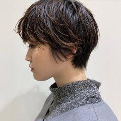 ショートボブ グラボブ モード ショート ヘアスタイルや髪型の写真・画像