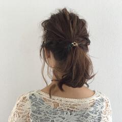 大人女子 ヘアアレンジ ボブ ポニーテール ヘアスタイルや髪型の写真・画像