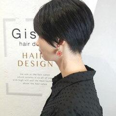 黒髪 ショート 坊主 ボーイッシュ ヘアスタイルや髪型の写真・画像