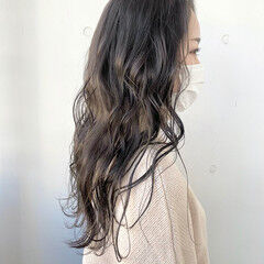 ロング 美髪 ダークカラー ナチュラル ヘアスタイルや髪型の写真・画像