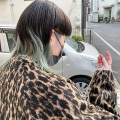 ウルフカット ストリート ヘアカラー マッシュウルフ ヘアスタイルや髪型の写真・画像