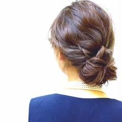 結婚式 ギブソンタック ロング 大人女子 ヘアスタイルや髪型の写真・画像