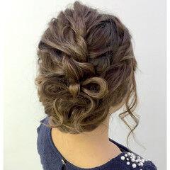 ヘアアレンジ ガーリー アップスタイル ヘアセット ヘアスタイルや髪型の写真・画像