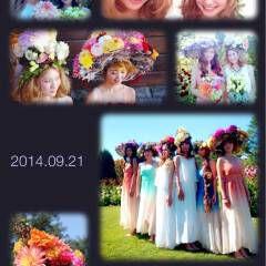 ヘアアレンジ 花 ヘアスタイルや髪型の写真・画像