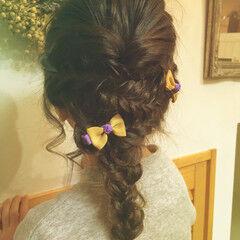 ヘアアレンジ フィッシュボーン 辻堂 編みおろし ヘアスタイルや髪型の写真・画像
