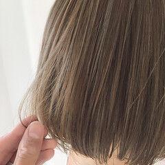 ボブ ママヘア アンニュイ デート ヘアスタイルや髪型の写真・画像