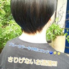 ショートボブ ショート ショートヘア インナーカラー ヘアスタイルや髪型の写真・画像