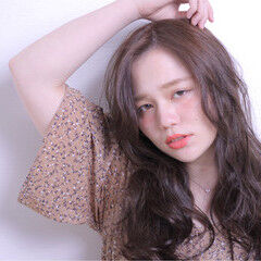 かわいい 斜め前髪 ロング 色気 ヘアスタイルや髪型の写真・画像