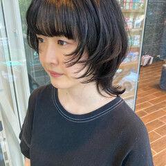 ナチュラルウルフ ウルフ女子 ボブ モード ヘアスタイルや髪型の写真・画像