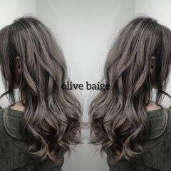バレイヤージュ ロング 外国人風カラー エレガント ヘアスタイルや髪型の写真・画像