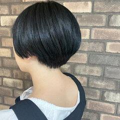 N.オイル 黒染め ナチュラル ショート ヘアスタイルや髪型の写真・画像