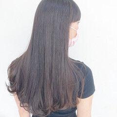 前髪 インナーカラー 髪質改善トリートメント ナチュラル ヘアスタイルや髪型の写真・画像
