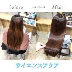 ツヤ髪 ナチュラル 髪質改善 大人ロング ヘアスタイルや髪型の写真・画像