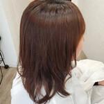 ロング 艶髪 フェミニン 縮毛矯正