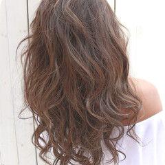 デート ビーチガール ロング 西海岸風 ヘアスタイルや髪型の写真・画像