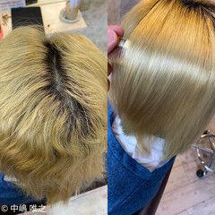 髪質改善 ガーリー ミディアム クセ ヘアスタイルや髪型の写真・画像