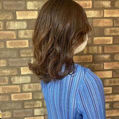春ヘア イルミナカラー ナチュラル 透明感 ヘアスタイルや髪型の写真・画像