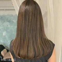 ロング エレガント ストレート 艶髪 ヘアスタイルや髪型の写真・画像