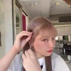 シースルーバング 小顔 小顔ヘア 前髪 ヘアスタイルや髪型の写真・画像