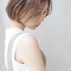 ショートボブ ショート 大人可愛い 前髪なし ヘアスタイルや髪型の写真・画像