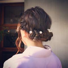 成人式 ナチュラル 謝恩会 結婚式 ヘアスタイルや髪型の写真・画像
