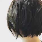 ウェットヘア 黒髪 ショート アウトドア