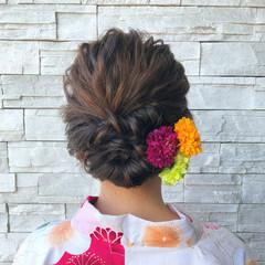 お祭り エレガント ヘアアレンジ 結婚式 ヘアスタイルや髪型の写真・画像