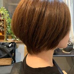 ナチュラル ナチュラルグラデーション ミニボブ ショートヘア ヘアスタイルや髪型の写真・画像