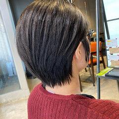 ショートヘア 丸みショート 大人ショート 髪質改善 ヘアスタイルや髪型の写真・画像
