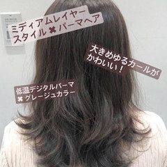 ダメージレス おしゃれ 無造作パーマ デジタルパーマ ヘアスタイルや髪型の写真・画像