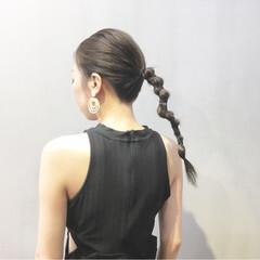 ヘアアクセ ヘアアレンジ デート ストリート ヘアスタイルや髪型の写真・画像