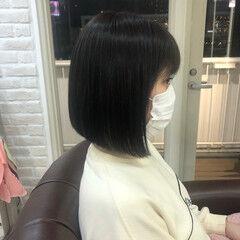 圧倒的透明感 暗髪 透明感カラー 透明感 ヘアスタイルや髪型の写真・画像