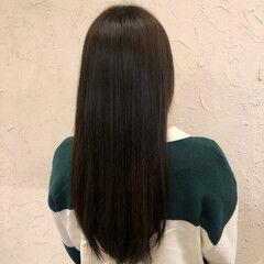 暗髪 ロング ブルージュ イルミナカラー ヘアスタイルや髪型の写真・画像