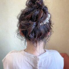 お団子ヘア お呼ばれ 結婚式 ロング ヘアスタイルや髪型の写真・画像