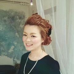 ヘアアレンジ ピュア ロング 編み込み ヘアスタイルや髪型の写真・画像