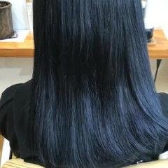 ネイビー ナチュラル うる艶カラー お笑い美容師 ヘアスタイルや髪型の写真・画像