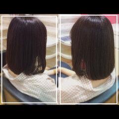 髪質改善トリートメント オフィス 社会人の味方 ボブ ヘアスタイルや髪型の写真・画像