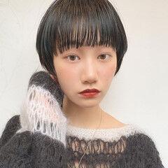 前髪 ナチュラル 小顔ショート ベリーショート ヘアスタイルや髪型の写真・画像