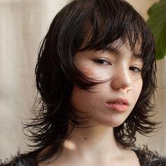 ウルフカット パーマ スパイラルパーマ デジタルパーマ ヘアスタイルや髪型の写真・画像