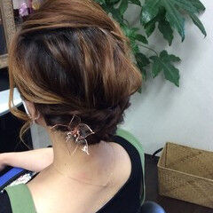 ヘアアレンジ ふわふわヘアアレンジ ナチュラル ヘアアクセサリー ヘアスタイルや髪型の写真・画像